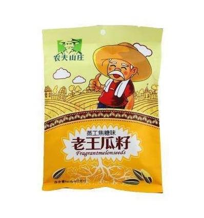 农夫山庄老王瓜子*蒸工焦糖味142g sunflower seeds