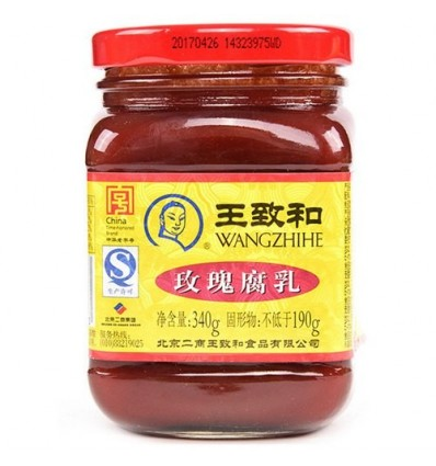 王致和玫瑰腐乳 Fermented bean curd 340g