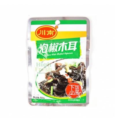 (3包85折)川南泡椒木耳(袋装) Preserved Beans 62g
