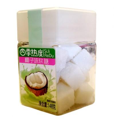 四季热度果立方软糖 - 椰子味148g Durian Candy