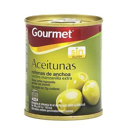 Gourmet牌鳀鱼味酸橄榄 120g*3罐 Aceituras rellenas de anchoa