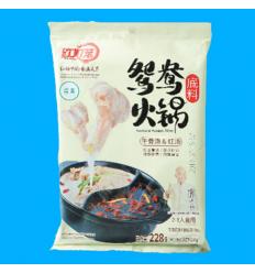 红灯笼火锅底料(牛骨汤红汤)白色Hot pot spices 228gr