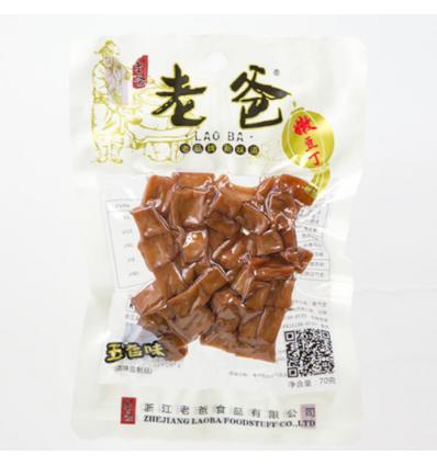 老爸五香味豆腐丁 dried bean curd 70g