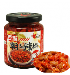 老骡子朝天辣椒(豆豉)240g Green preserved chili