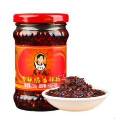 老干妈香辣脆油辣椒 Soybean hot pepper oil 210g