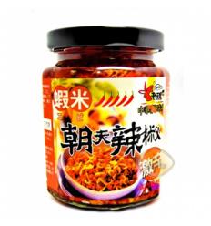 老骡子朝天 小鱼(虾米)240g Green preserved chili
