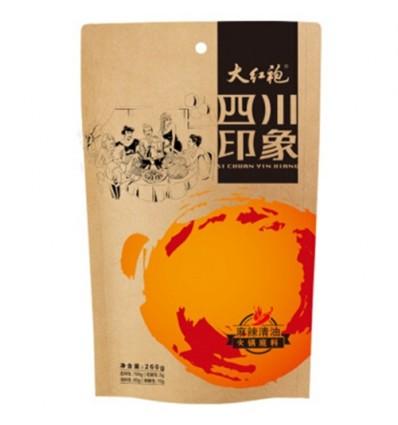 大红袍四川印象火锅底料(麻辣清油)260g Hot pot spices