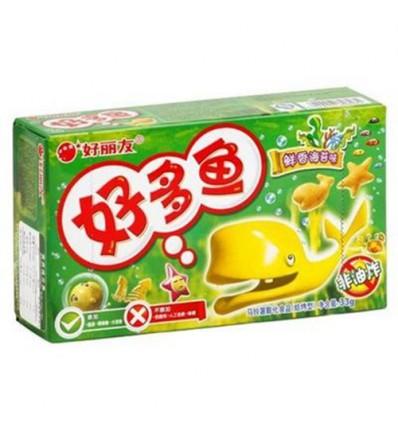 好丽友饼干 好多鱼 海苔味(绿) 33g crackers