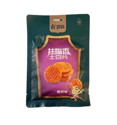 卤门家族抹嘴乡土豆片*烧烤味 BBQ Flavored Potato Chips 130G