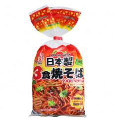 日本五木炒面(三连包) 510G Japanese Wumu Fried Noodles (Three Packs) 510G
