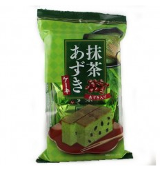 日本天惠抹茶红豆蛋糕 110G Japan Tianhui Matcha Red Bean Cake 110G