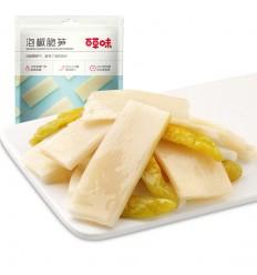 百草味*泡椒脆笋 200G Herb-flavored* Pickled Pepper Crispy Bamboo Shoots 200G