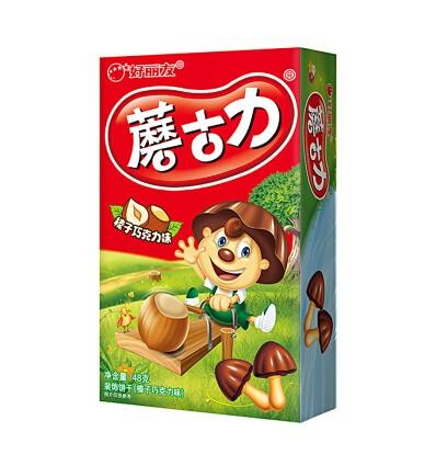好丽友*蘑古力*榛子巧克力味 48GHaoliyou*Mushroom Chocolate*Hazelnut Chocolate Flavor 48G