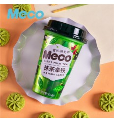 香飘飘*MECO轻奶茶*抹茶拿铁 300MLFragrant Piaopiao*MECO Light Milk Tea*Matcha Latte 300ML