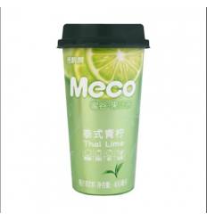 香飘飘*MECO果汁茶*泰式青柠味 400MLFragrant Piaopiao*MECO Juice Tea*Hong Kong Style Lemon Flavor 400ML