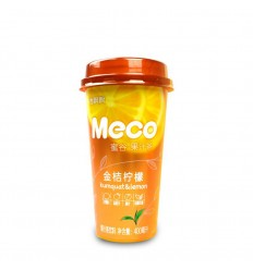 香飘飘*MECO果汁茶*金桔柠檬味 400MLFragrant Piaopiao*MECO Juice Tea*Hong Kong Style Lemon Flavor 400ML