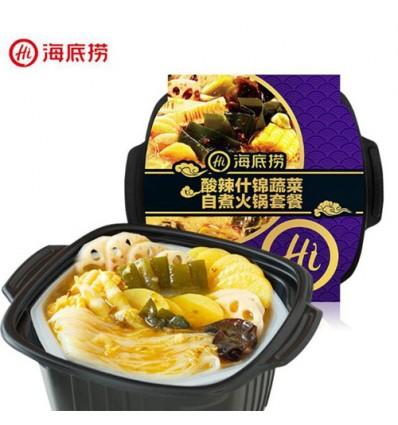 海底捞*酸辣什锦蔬菜*自煮火锅套餐 410g Sichuan Spicy Hot Pot