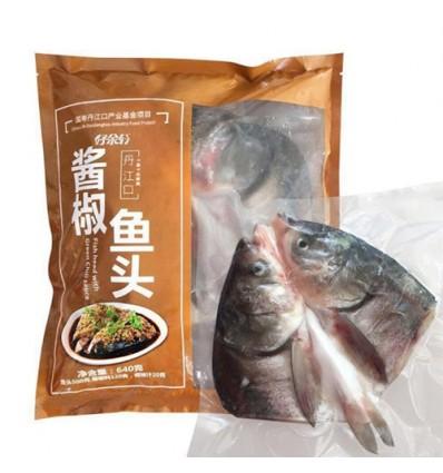 (限寄德法) 好余轩 湖北丹江口白鲢鱼*酱椒*鱼头 640g Chopped Pepper Fish Head