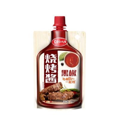 草原红太阳*烧烤酱*黑椒味 110G Prairie Red Sun*New Orleans BBQ Sauce 110G