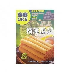 台湾澳客榴莲蛋卷 Durian egg rolls 160g
