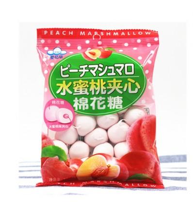 爱亿华*水蜜桃夹心棉花糖 90g Peach Candy