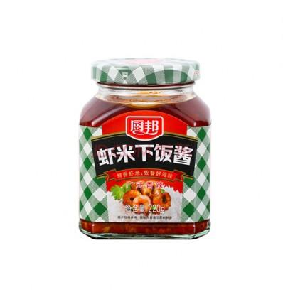 厨邦*广式香辣*虾米下饭酱 220g Soy Pasta