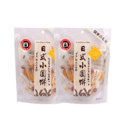 松谷屋*日式小圆饼*柚子盐味 70g biscuit