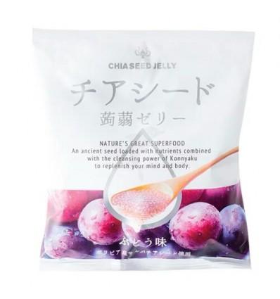 日本CSJ蒟蒻果冻*冰葡萄味 165g jelly