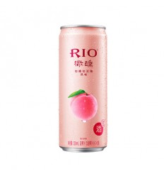 Rio微醺*白桃白兰地鸡尾酒*粉红 330ml Cocktail