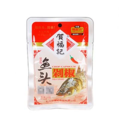 贺福记*鱼头剁椒*红 120g Red preserved chili