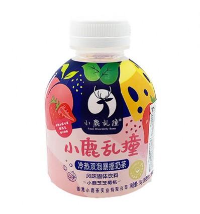 小鹿乱撞*冷热双泡暴摇奶茶*小鹿芝芝莓桃 58g milk tea