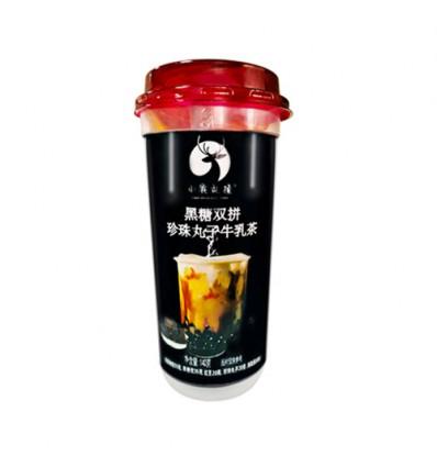 小鹿乱撞*黑糖双拼*珍珠丸子牛乳茶 140g milk tea