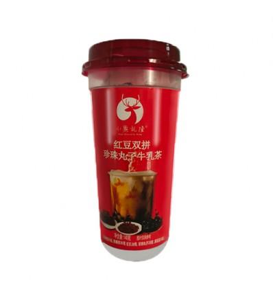 小鹿乱撞*红豆双拼*珍珠丸子牛乳茶*红 140g milk tea