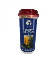 小鹿乱撞*抹茶双拼*珍珠丸子牛乳茶(蓝) 140g milk tea