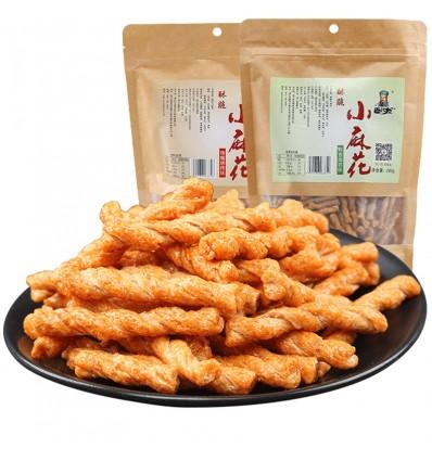 卧龙*酥脆小麻花*蜜汁焦糖味 280g Mahua