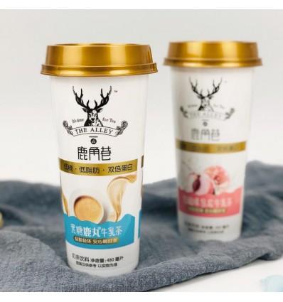 (免冲泡)鹿角巷*乌龙牛乳茶*白桃味 480ml milk tea