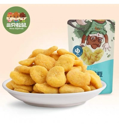 (BBD: 2020.11.30)三只松鼠*兰花豆(牛肉味蚕豆)205g Three squirrels snacks