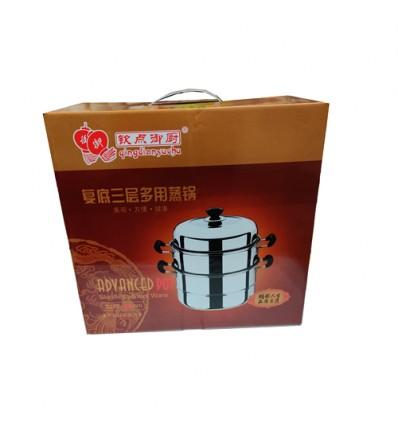 (中号)钦点御厨*复底三层多用蒸锅*加厚 26cm pot