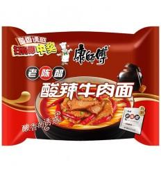 康师傅*老坛酸菜牛肉面 117g noodles
