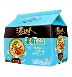 (5连包)汤达人*酸酸辣辣豚骨面 135g*5 Hot and sour pork noodles