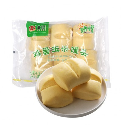 (A区)北记*鸡蛋玉米馒头*6个装 510g beiji food