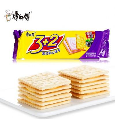康师傅*甜酥夹心饼干*果香蓝莓味 80g cookie