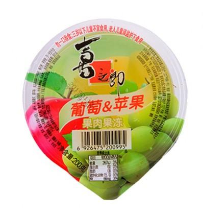 喜之郎*杯装果冻*黄桃蜜桃 200g jelly