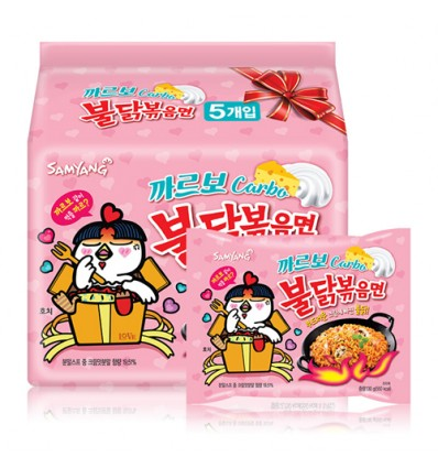 (5连包)韩国三养*火鸡面*奶油味(粉色袋) 700g Instant Noodles