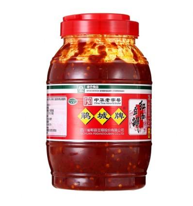 鹃城红油郫县豆瓣酱1.2KG Shexian Red Oil Bean Sauce
