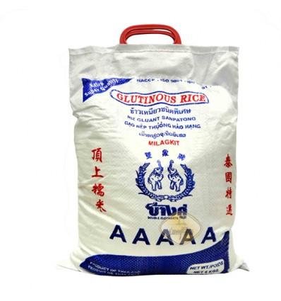 泰国双象牌*顶上白糯米 5kg rice