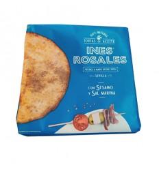 (橙白)西班牙特产Ines rosales*手工橄榄油薄饼*甜橙味 180g cracker