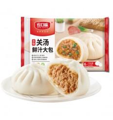 (A区)合口味*手制关汤鲜汁大包*6只装 420g hekouwei food