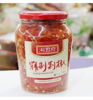 湘君府精制红剁椒 Red preserved chili 720g